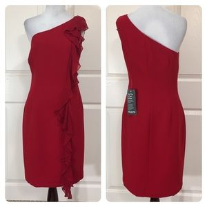 NWT! Maggy London one shoulder dress